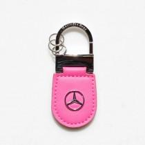 Μπρελόκ κλειδιών Mercedes-Benz pink leather