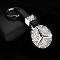 diamond mercedes key ring μπρελόκ