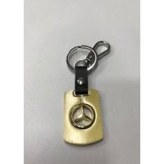 Μπρελόκ κλειδιών με δέρμα golden star